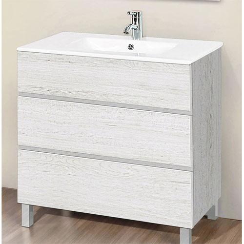 Mueble con patas ARTICO roble blanco