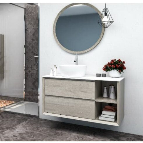 Mueble Baño NEW HOLE Roble gris