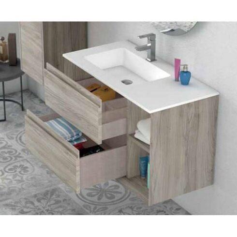 Mueble Baño HOLE Roble gris
