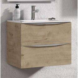 Mueble de baño roble landes moderno
