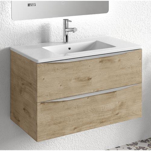 Mueble de baño moderno landes roble