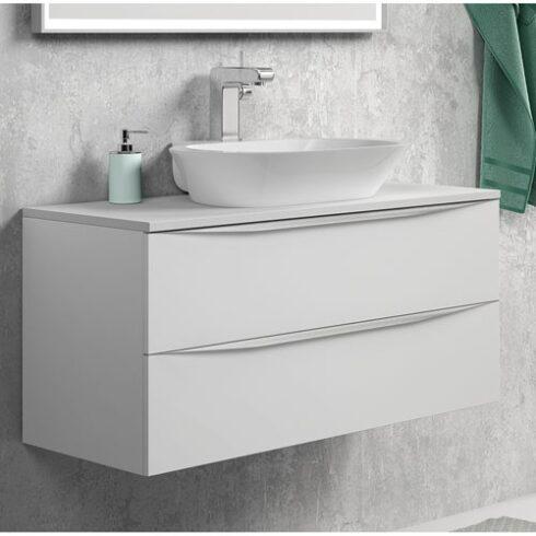 Mueble de baño landes sobre encimera