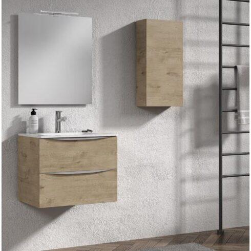 Mueble de baño moderno roble landes