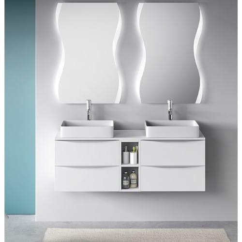 Mueble de baño de 140cm blanco landes