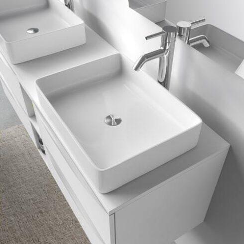 Mueble de baño blanco landes 140