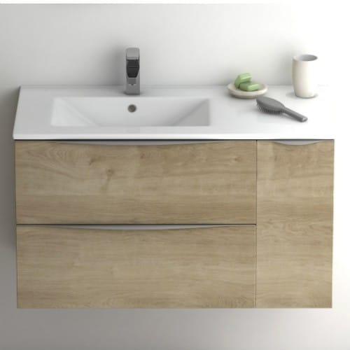 Mueble de baño Landes desplazado
