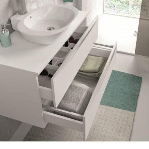 Interior mueble de baño landes blanco