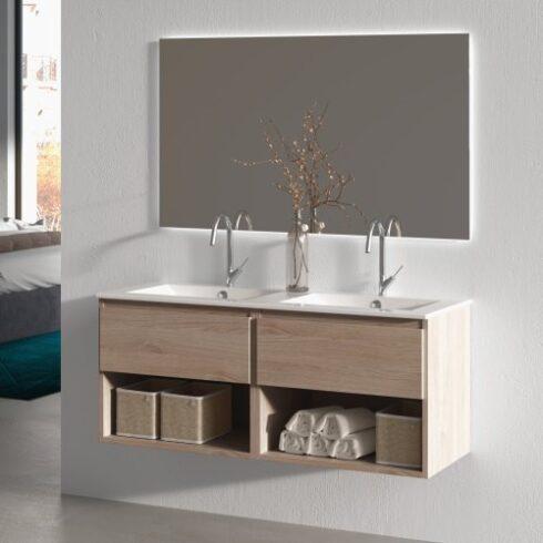 Mueble de baño LINE 120cm roble