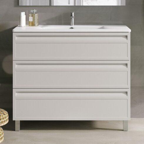 Mueble de baño con patas MARINA 3 cajones