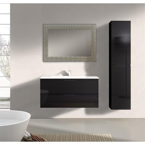 Mueble de baño moderno Modena Negro