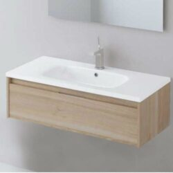 Mueble de baño moderno Carmen 1 cajon  Roble