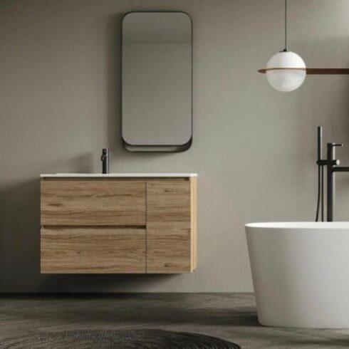 Mueble de baño dallas Teca