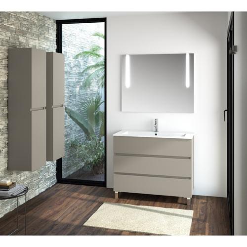 Mueble de baño con patas Taupé Fussion
