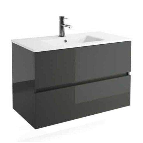 Mueble de Baño FUSSION Gris brillo