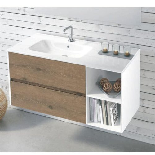 Mueble de baño de diseño Easy Abierto Nogal
