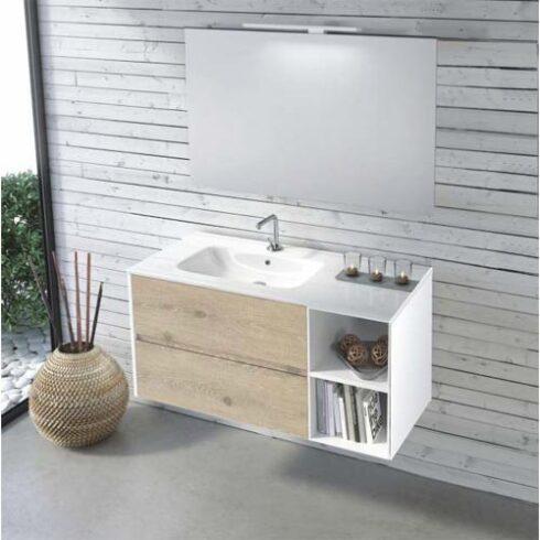 Mueble de Baño de diseño Easy Abierto Olmo