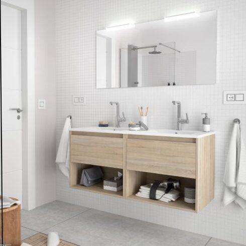 Mueble de baño Noja Double Roble