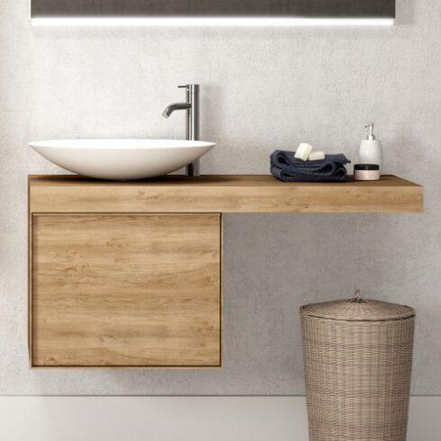Conjunto encimera de baño y mueble