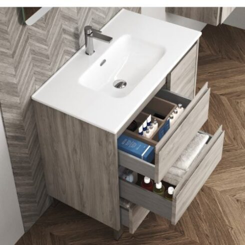 Mueble de Baño Cervino Roble Gris