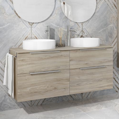 Mueble baño Galsaky 120cm roble gris