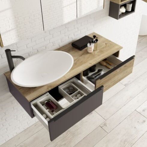 Mueble Baño moderno BILANDI Abierto