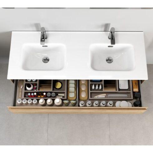 Encimera de 2 senos de mueble baño Praga