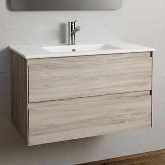 Mueble Baño Praga Roble Gris