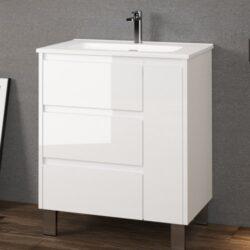 mueble de baño cervino blanco