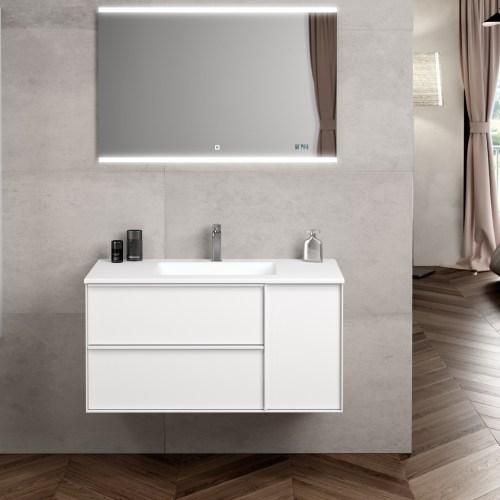 Mueble de Baño Oslo Blanco 100cm