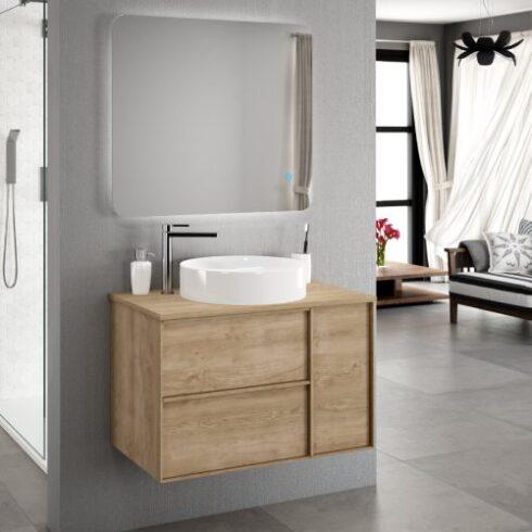 Mueble lavabo sobre encimera Oslo