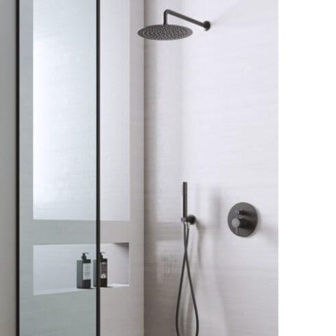 Conjunto de ducha negro Minimal