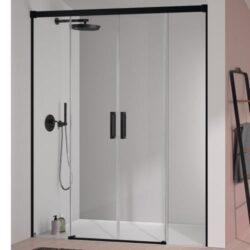 Mampara de ducha negra GLASE