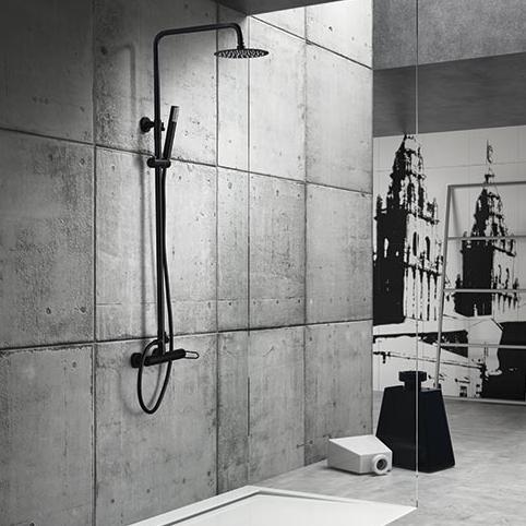 Columna de ducha MIlos Negra