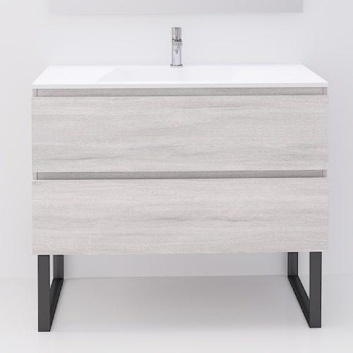 Mueble de Baño Roble Blanco ELEIND