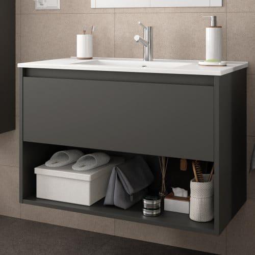 Mueble baño 1 cajón NOJA GRIS