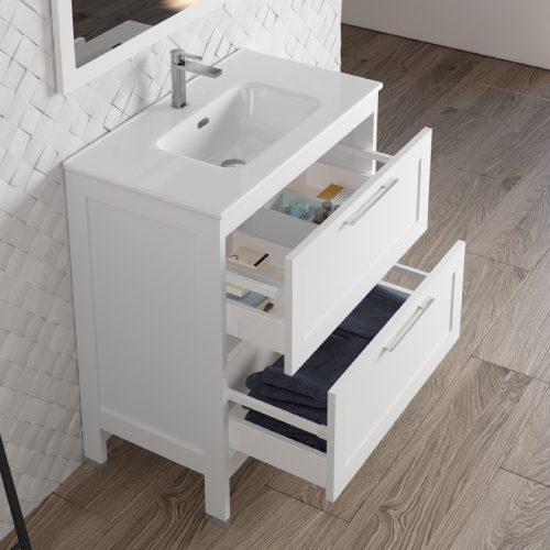 Mueble de baño Toscana Blanco Abierto
