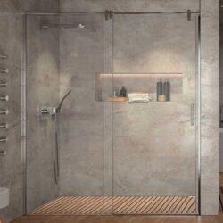 Mamparas de ducha en Acero Inox Slim