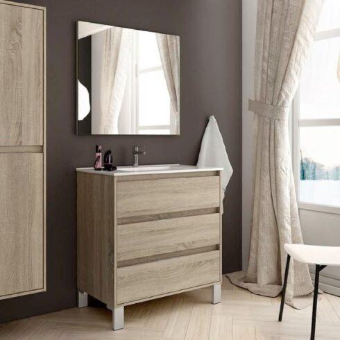 Mueble de baño corfú roble