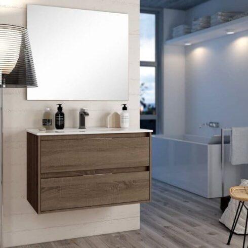 Mueble de baño Corfu Nogal