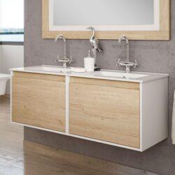 Mueble de baño doble Santorini