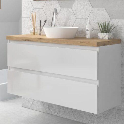 Mueble de baño Aqua blanco mate