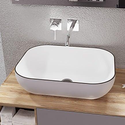 lavabo sobre encimera beira