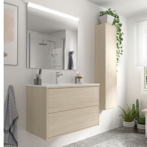 mueble de baño roble optimus