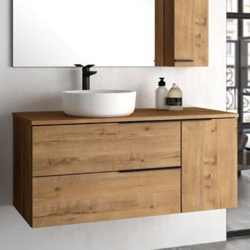 Muebles lavabo sobre encimera new capri