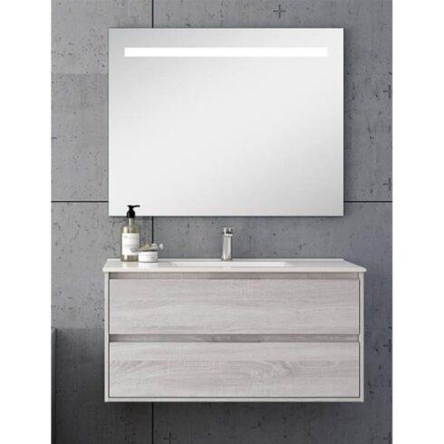 Mueble para baño corfu roble blanco