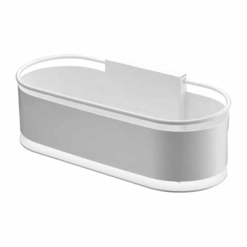 estantes de baño anga blancos