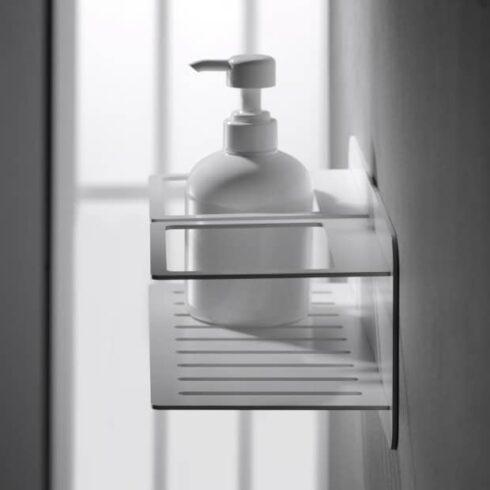estantes de baño iman negros