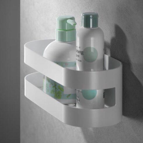 estantes de baño Nirmala blancos