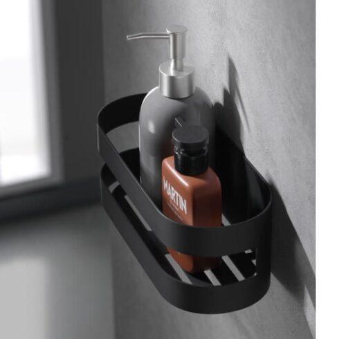estantes de baño nirmala negros